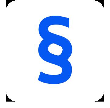 Rechtsschutzversicherung: Paragraf (Icon)